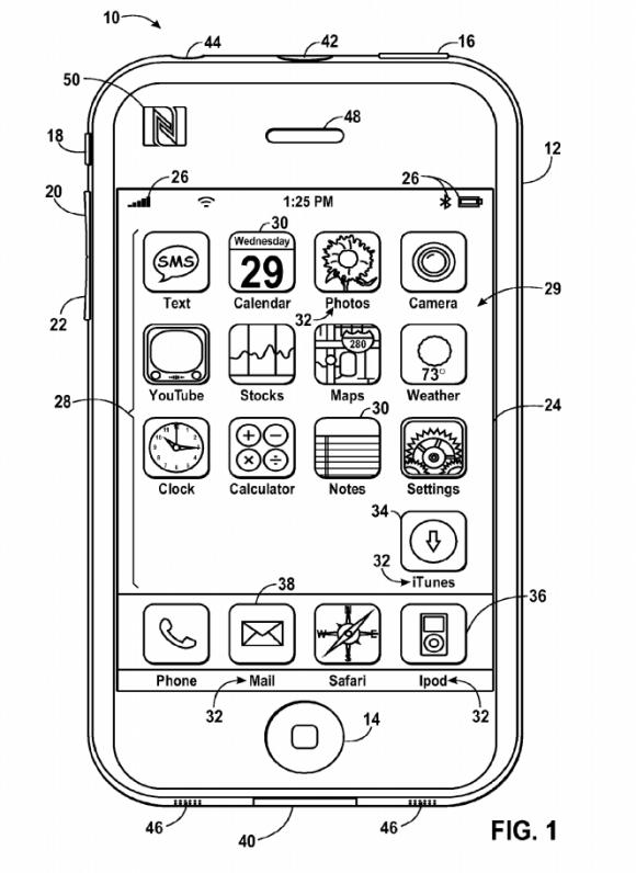 iPhone, NFC特許