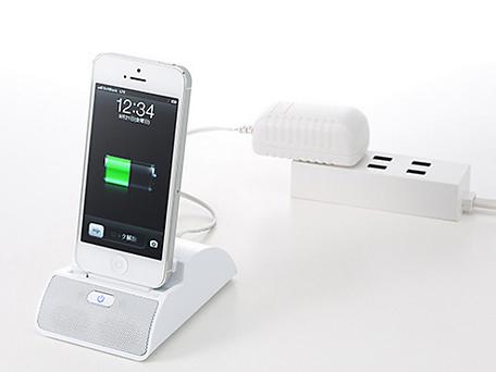 ソフトバンクBB、iPhone 5用スタンド型スピーカー