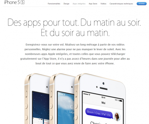 フランス語でのiPhone 5s紹介