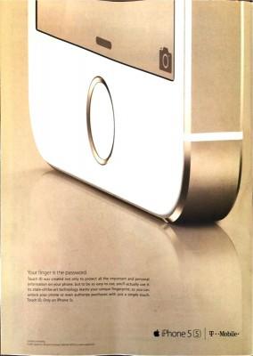 iPhone 5sの初の雑誌広告