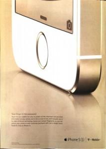 iPhone 5s雑誌広告