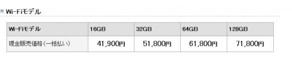 Wi-Fiモデル料金プラン
