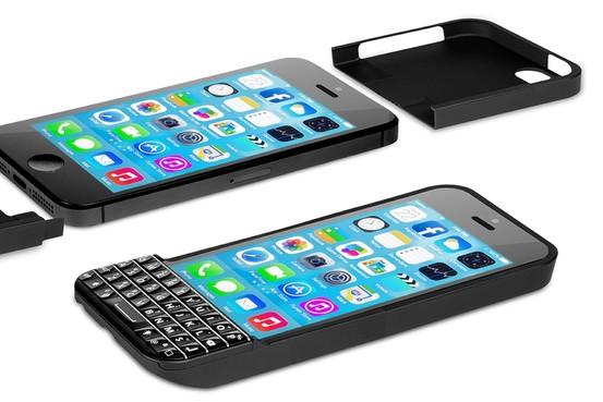 BlackBerryのような物理キーボードでの入力を可能にするケース