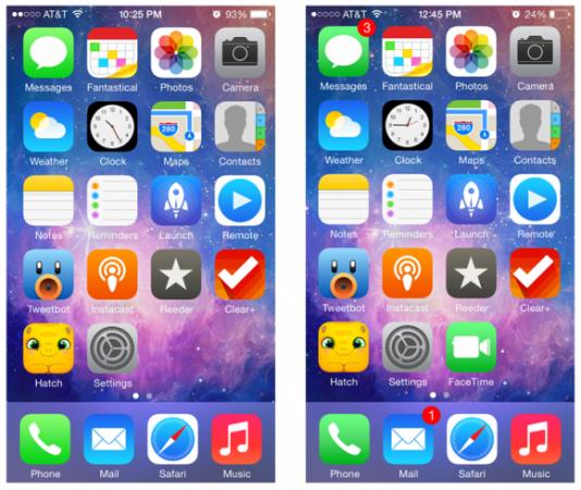4.現行iOS 7とiOS 7.1 Beta3のアイコン