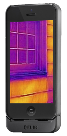 5.「FLIR ONE」はiPhone 5s/5で動作し、重量は約90グラム