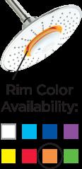 8色(ホワイト、グリーン、パープル、レッド、ブルー、イエロー、ネイビー、オレンジ)のカラーバリエーション