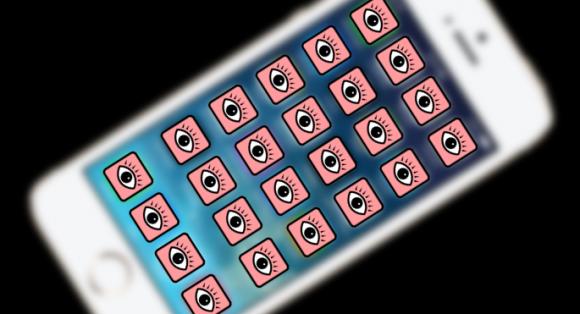 バックグラウンドで動作してiPhoneの全操作情報を監視され、送信される可能性