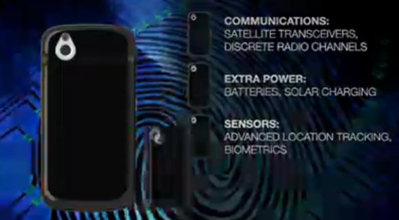 衛星通信、生体認証、位置追跡装置を追加可能!