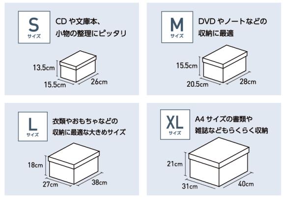 ニュートラルボックスのサイズ