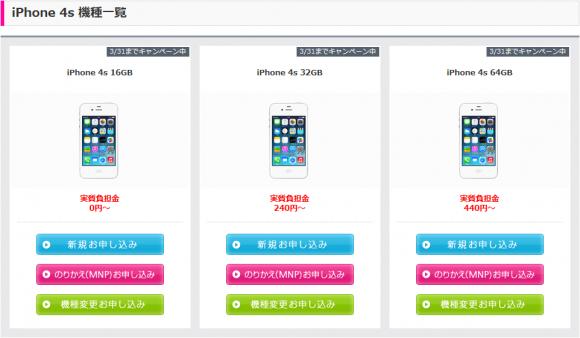 iPhone4s_ラインナップ
