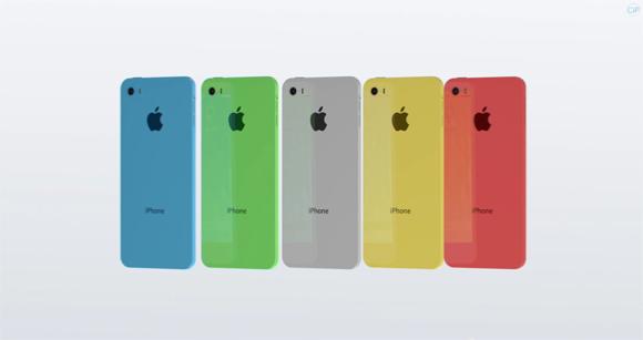 iPhone Cのカラーリング