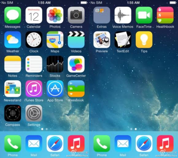 iOS 8の画面デザインはiOS 7を踏襲か