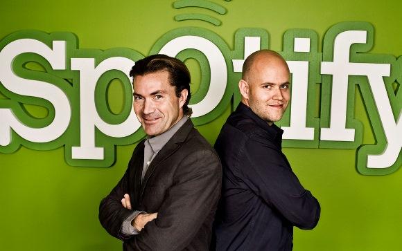 Spotify共同創業者のDaniel Ek氏とMartin Lorentzon氏