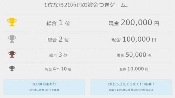 ビンゴバトル賞金