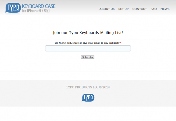 typokeyboard homepage