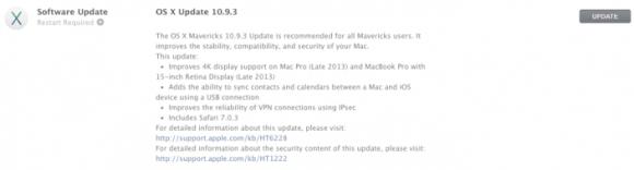 OS X Mavericks 10.9.3