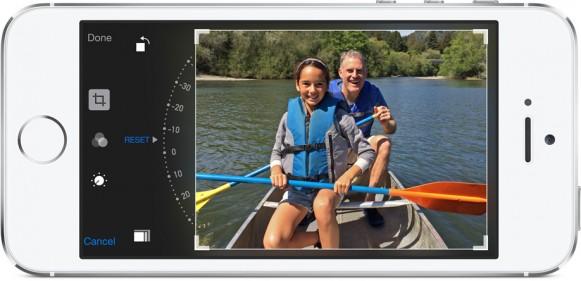iOS8では写真の加工が簡単