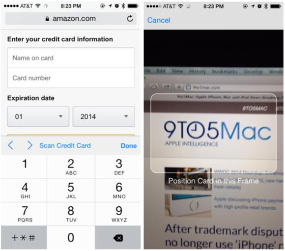 iOS8ではカード情報入力が不要に!課題は悪用防止策?