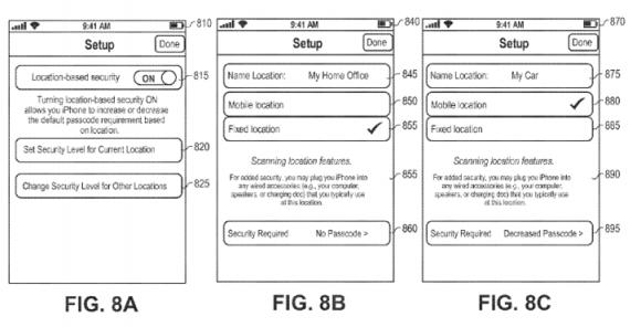 アップルの位置情報に応じたセキュリティ技術