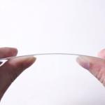 iPhone6用サファイヤガラスの曲げ動画