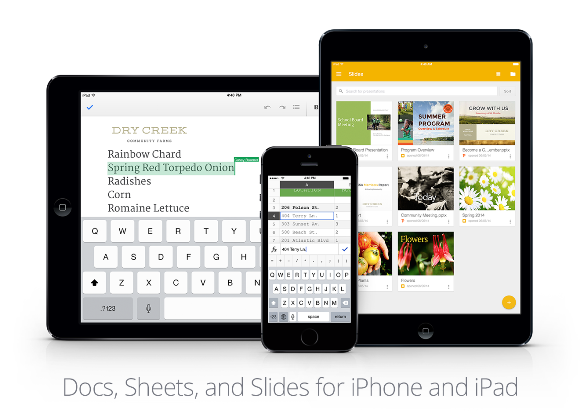 iPhone/iPadでOfficeファイルを編集!「Googleスライド」公開