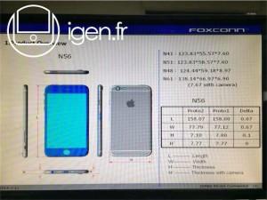 iPhone6の詳細サイズが明らかに!5.5型は184.6gか