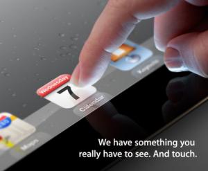 iPad3発表会の招待状