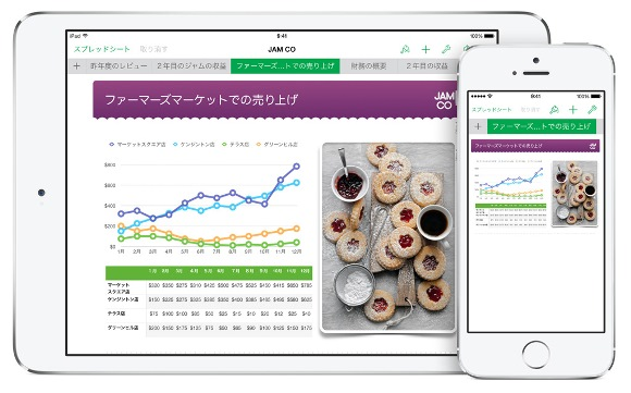 Appleの表計算アプリ「Numbers」