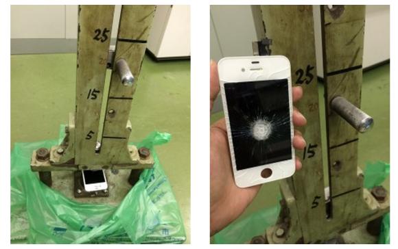 iPhone4s 画面 破壊