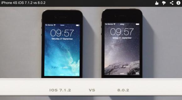 iPhone4s iOS8 アップグレード