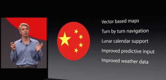 iOS8は中国への対応が充実