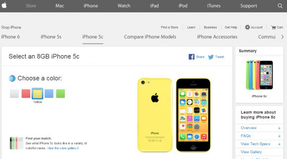 海外で販売継続中のiPhone5c
