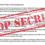 Apple Restricted Project Agreement