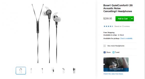 Bose® QuietComfort® 20i Acoustic Noise Cancelling® Headphones Apple Store U.S.