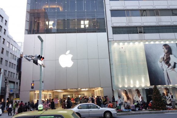 2014年元旦のApple Store銀座