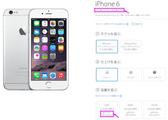 iPhone 6 /6 Plus Apple Store 販売停止