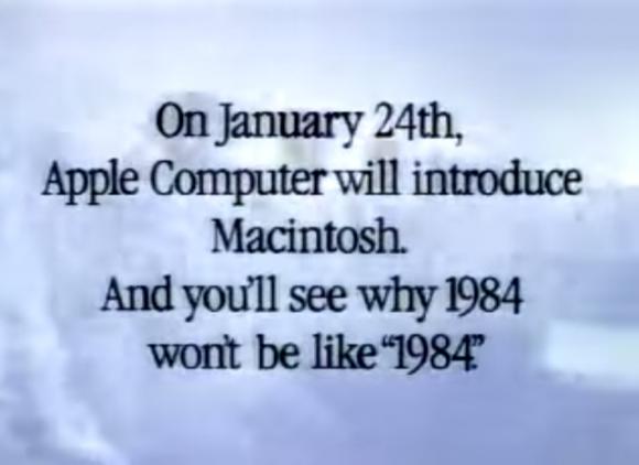 ちょうど21年前、アップル放映した初代Macの伝説的CM