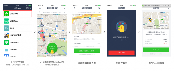 iPhone タクシー