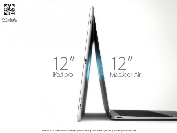 iPad Proと新MacBook Airを並べたコンセプト画像