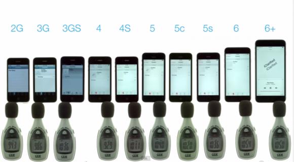 歴代iPhoneの本体スピーカー性能を比較した動画