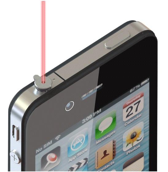 iPhone レーザーポインター