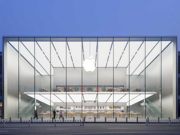 中国・杭州のApple Store、2階が浮いて見える不思議な建築デザイン!