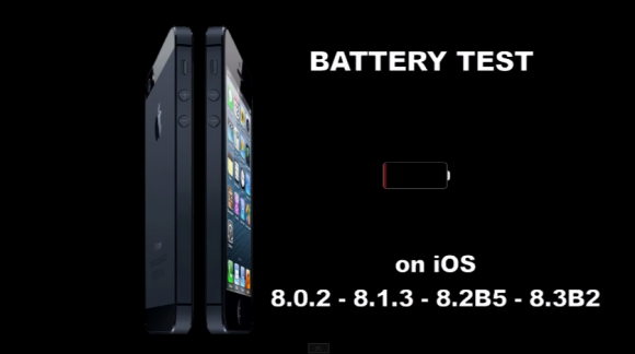 iOS8シリーズのバッテリー持続時間を比較した動画