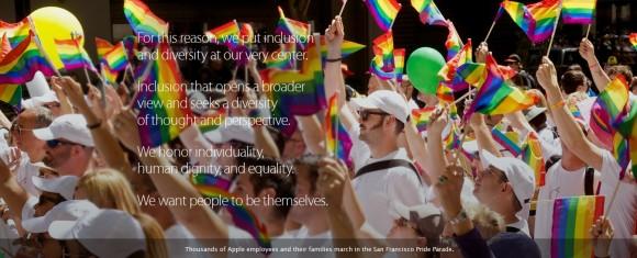 apple lgbt インディアナ州 ティム・クック 多様性 ゲイ