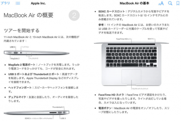 MacBook 基本 マニュアル