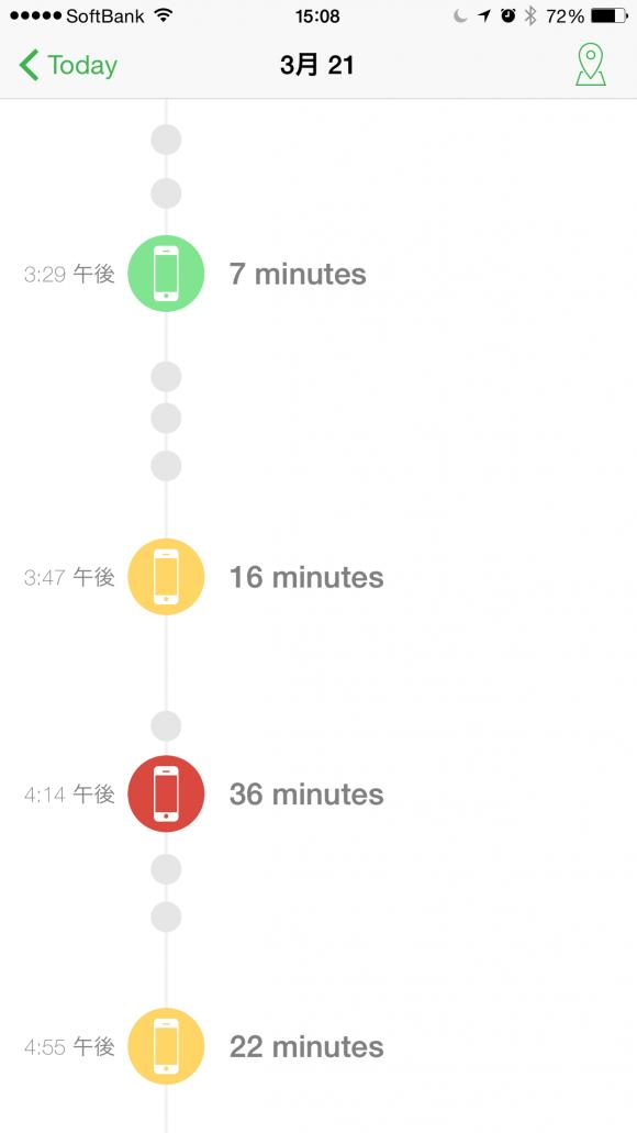 アプリ「moment」