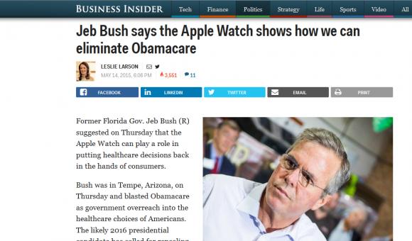 jeb bush apple watch