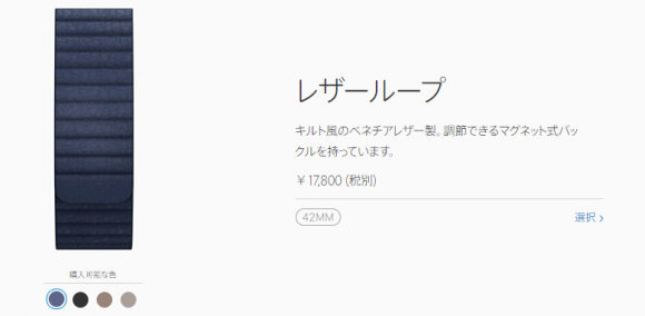 Apple Store Apple Watch レザーループ