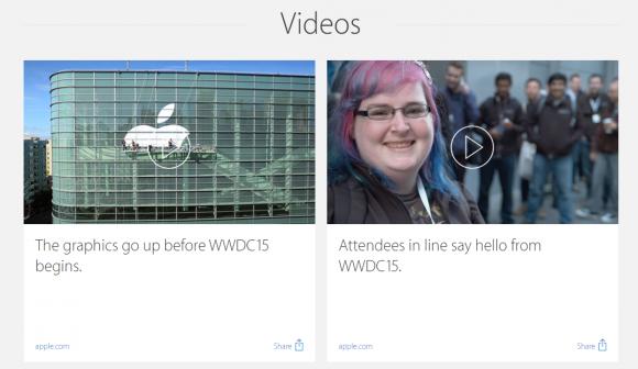 Apple WWDC2015 特設ムービー