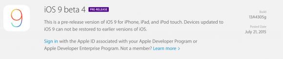 Apple iOS9 beta4